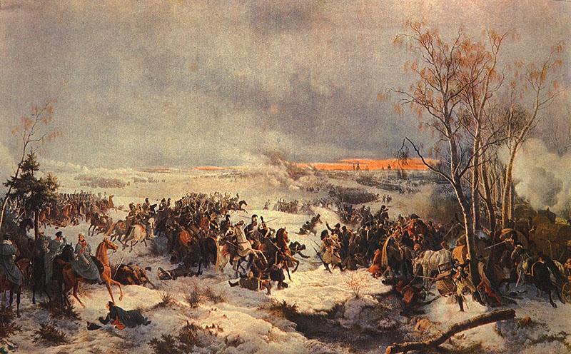 Петер фон Гесс (1792-1871). Сражение под Красным.