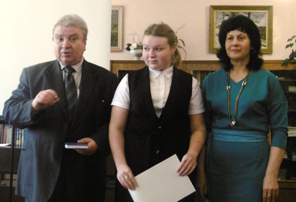 Жюри В.В. Лагуткин, Т.Н. Крапивина и Ксения Голубева( в центре), ДДТ г. Демидов