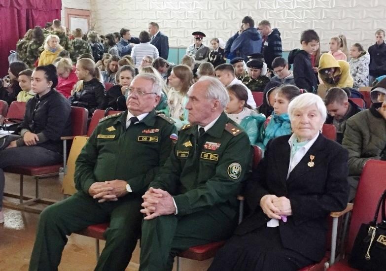 Ветераны  в д. Соловьево на акции Маршрут памяти