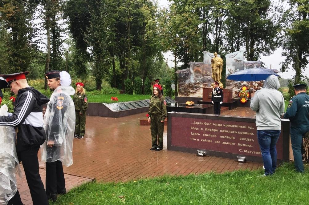 Возложения цветов к мемориальному комплексу  Соловьева переправа