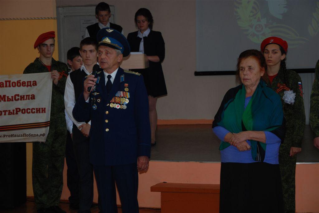 Начальник районного штаба Юнармии В.Г. Жданов и писатель-краевед В.И. Шулакова-Гольманова.