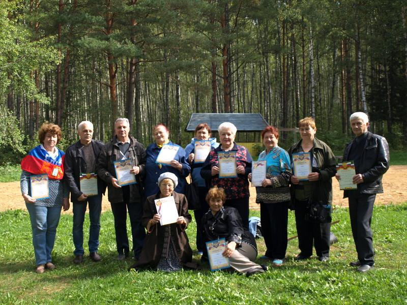 Участники спартакиады с заслуженными наградами